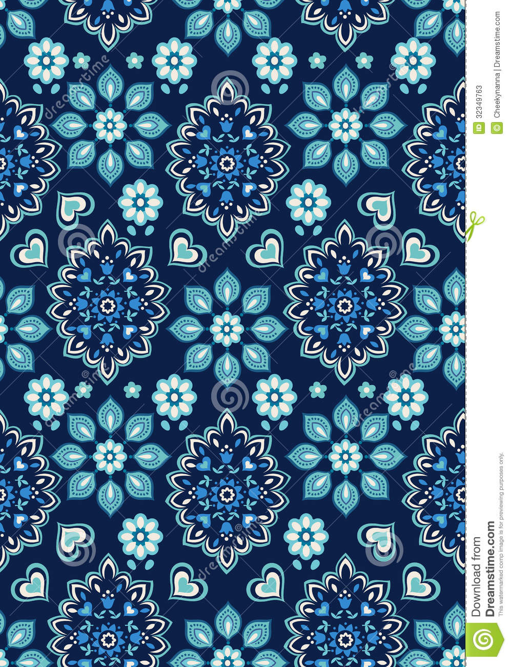 pretty ditsy floral on navy stock photos image 32349763