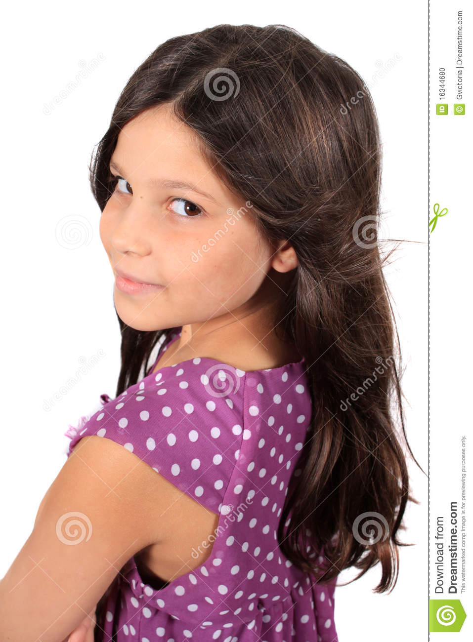 8 Year Boy Bedroom Design: Pretty Eight Year Old Girl Stock Photo