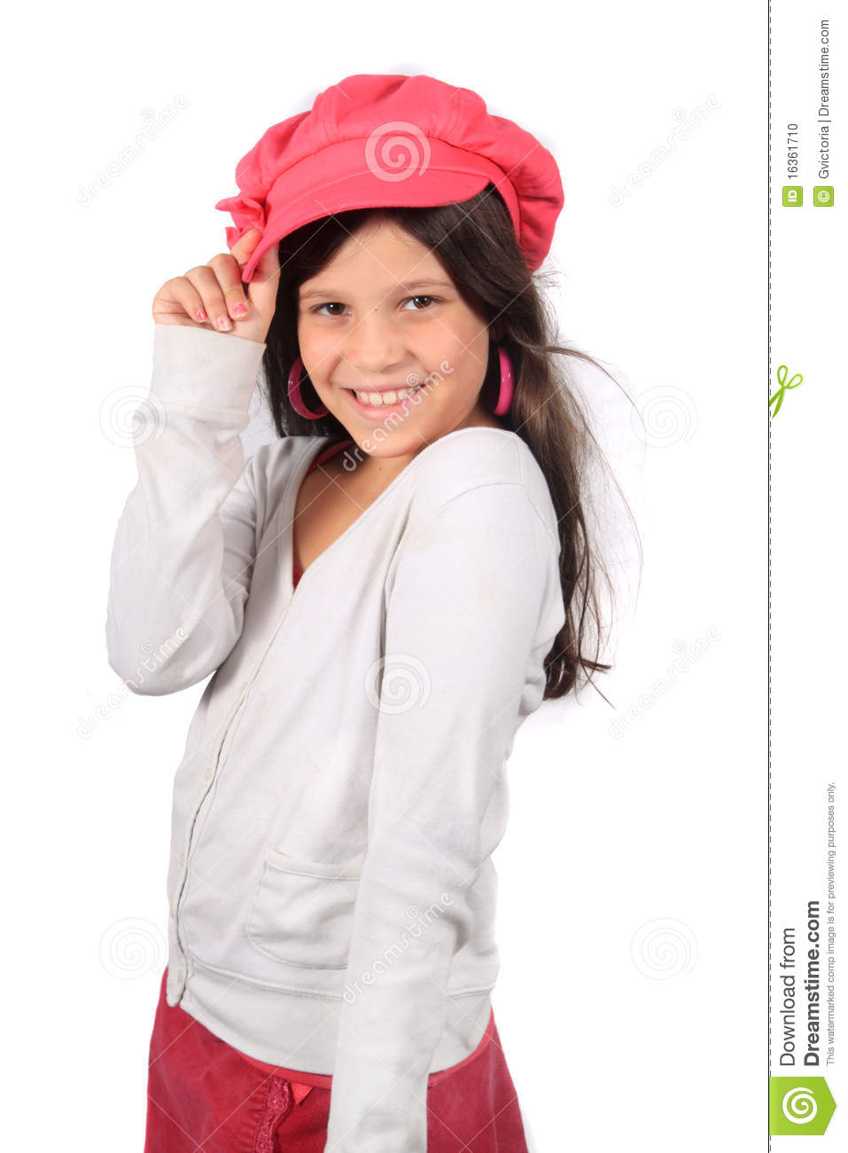 Pretty Eight Year Old Girl Stock Photo Image 16361710