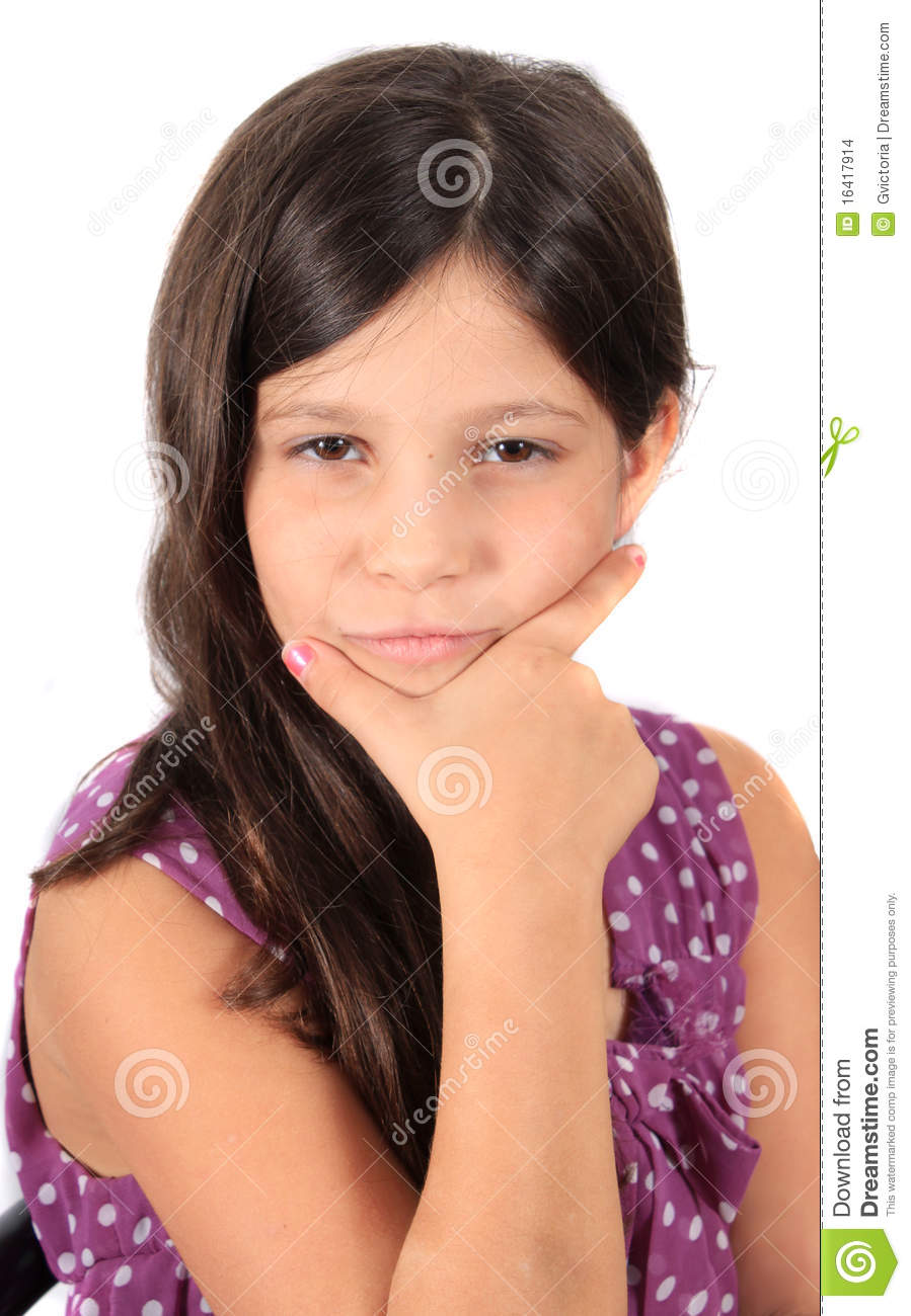 Pretty Eight Year Old Girl Stock Images Image 16417914