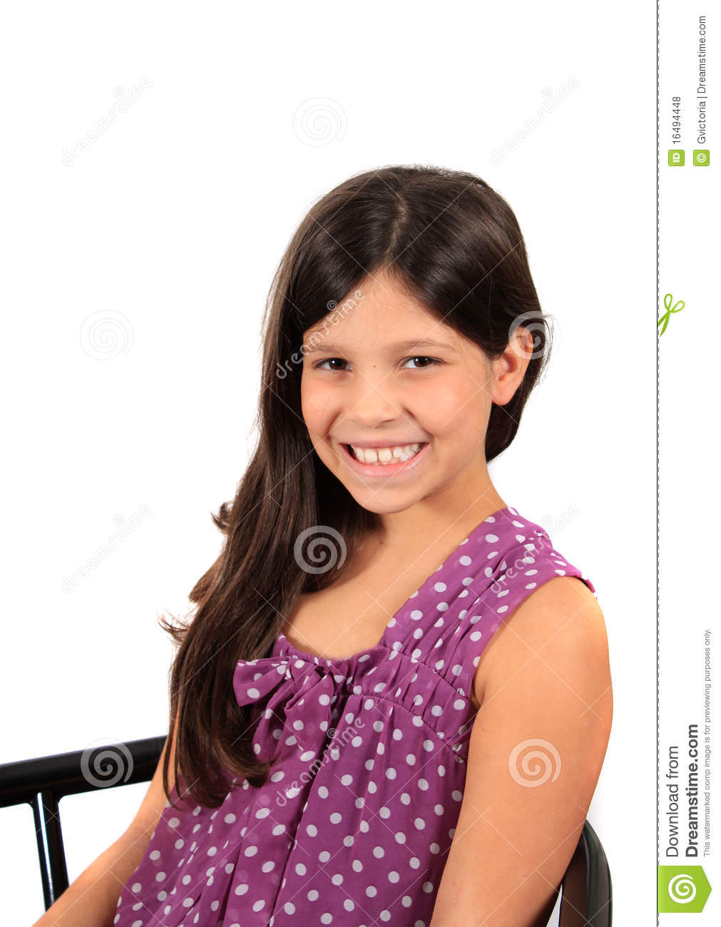 Pretty Eight Year Old Girl Royalty Free Stock Photos