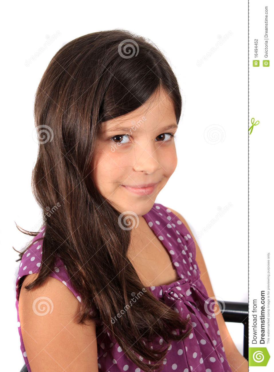Pretty Eight Year Old Girl Stock Photography Image 16494452