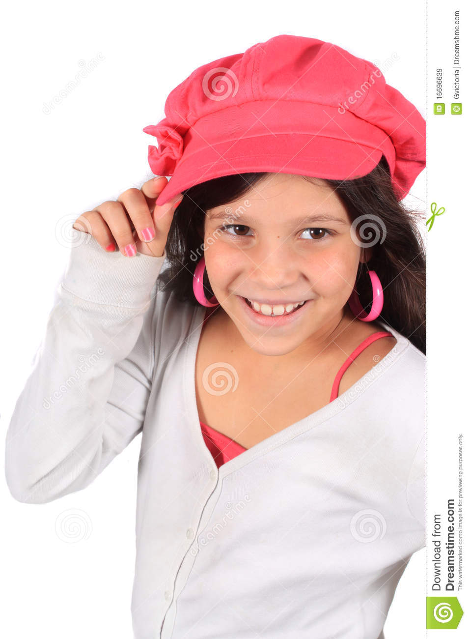 Pretty Eight Year Old Girl Royalty Free Stock Images