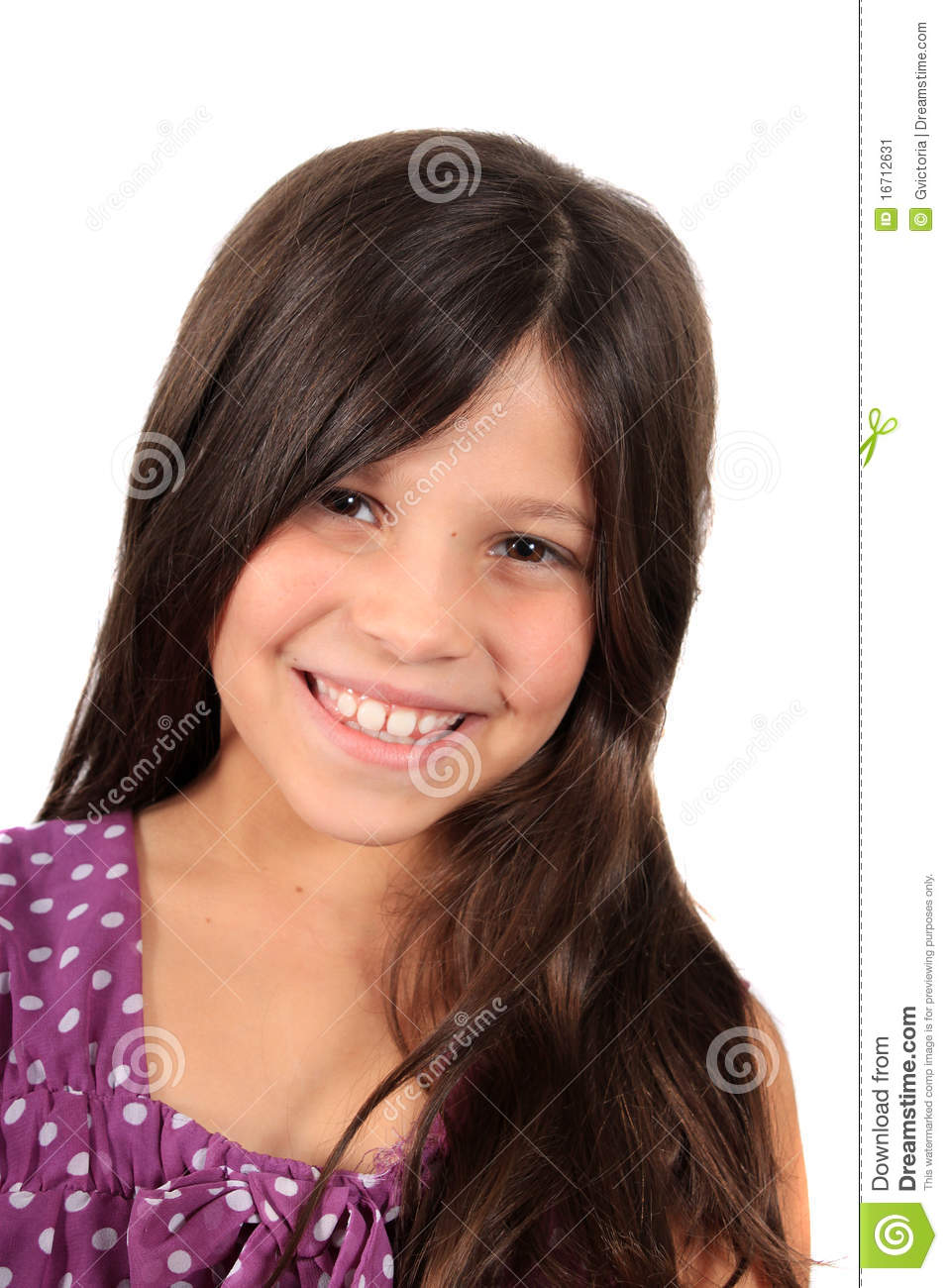 Pretty Eight Year Old Girl Stock Image Image 16712631