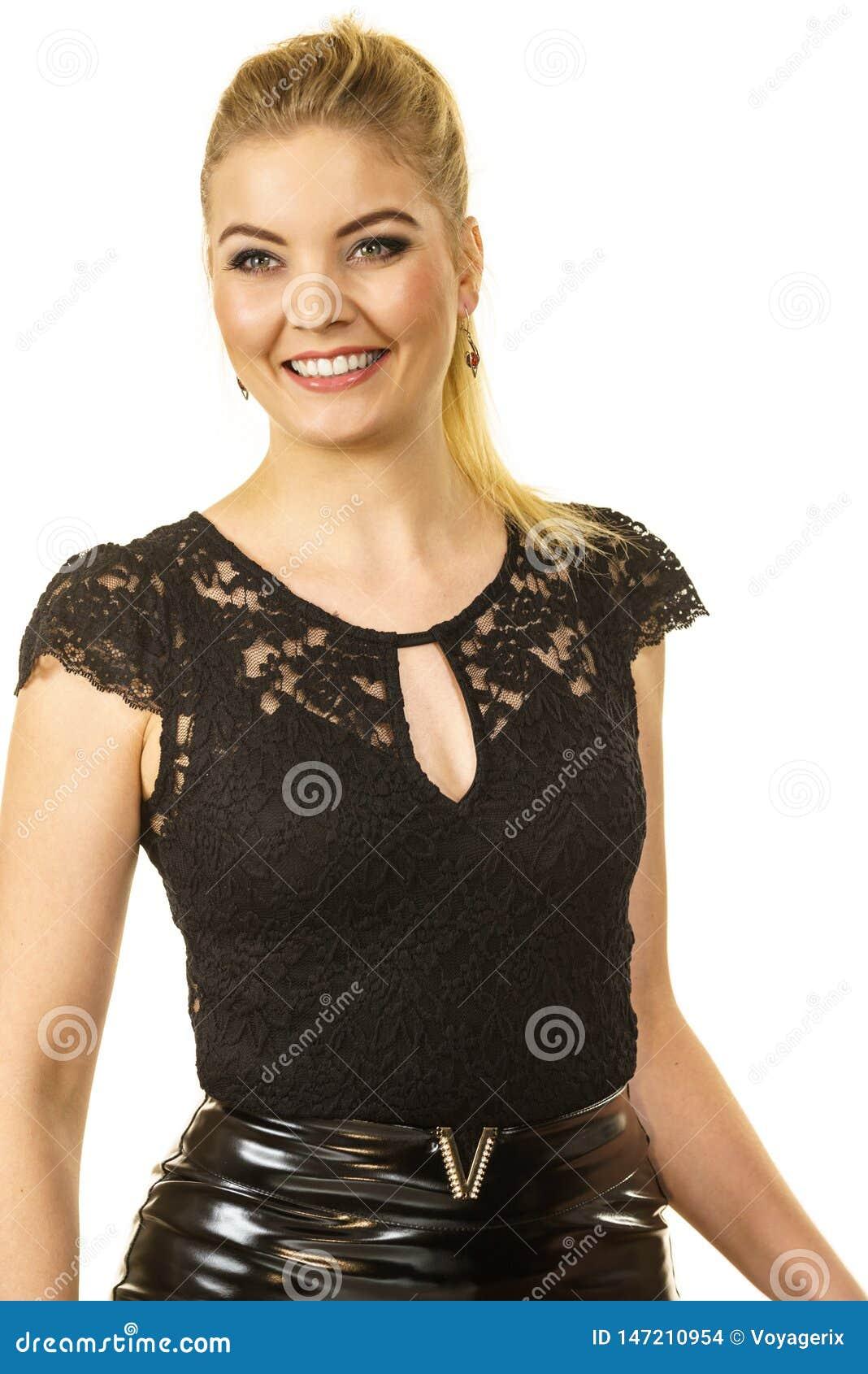 Pretty elegant young woman model