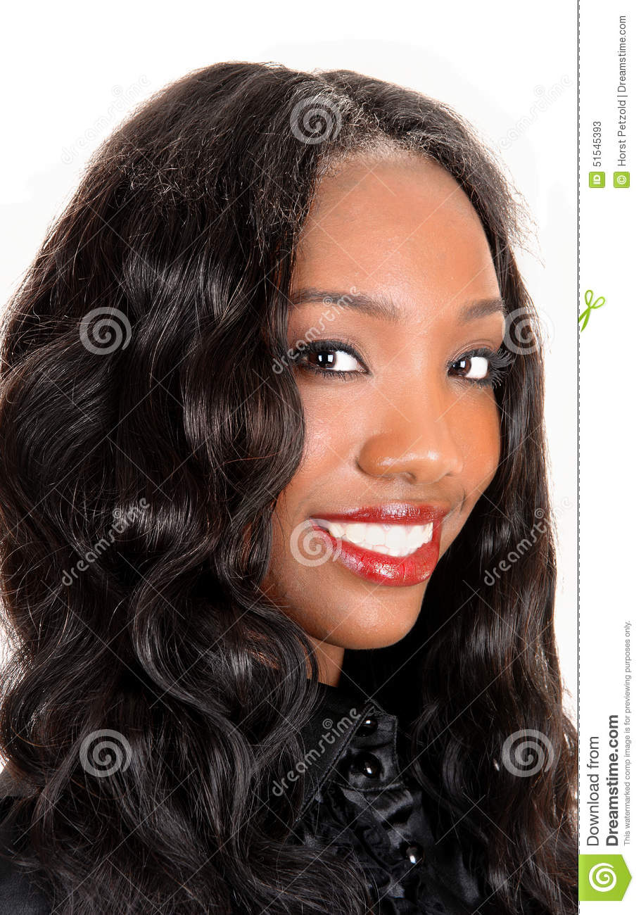 Pretty Face Of Black Girl Stock Image Image Of Expression 51545393