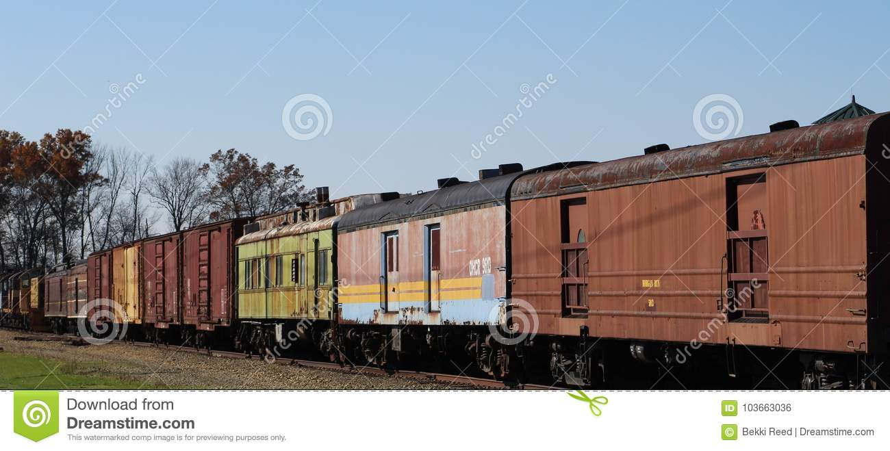 Colorful trains and bright fall days
