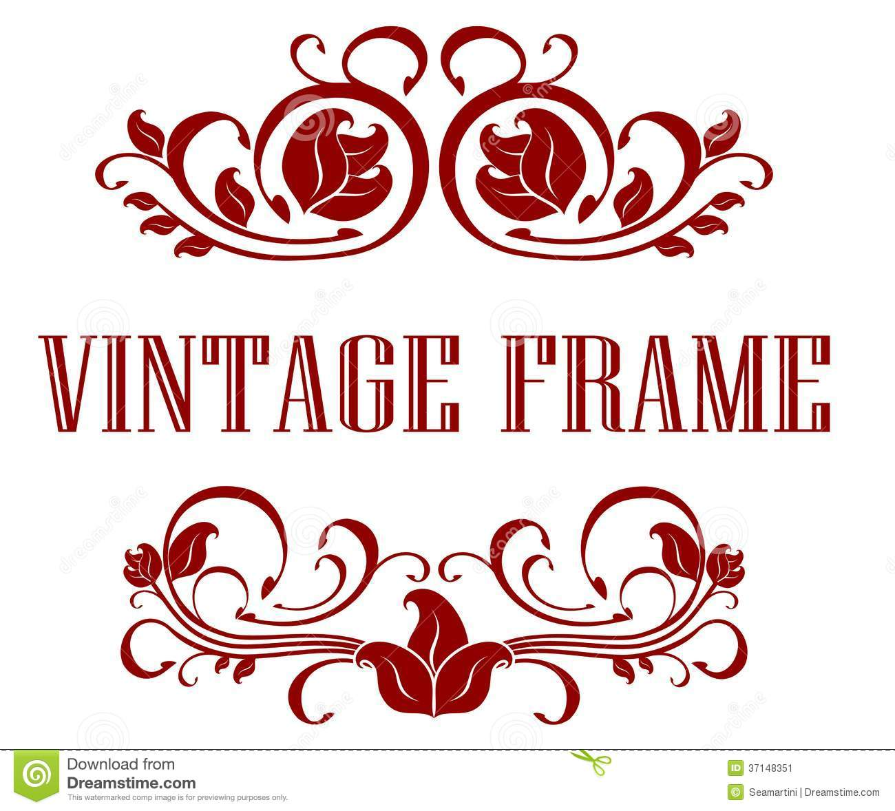 Pretty Floral Vintage Frame Stock Vector - Illustration of ...