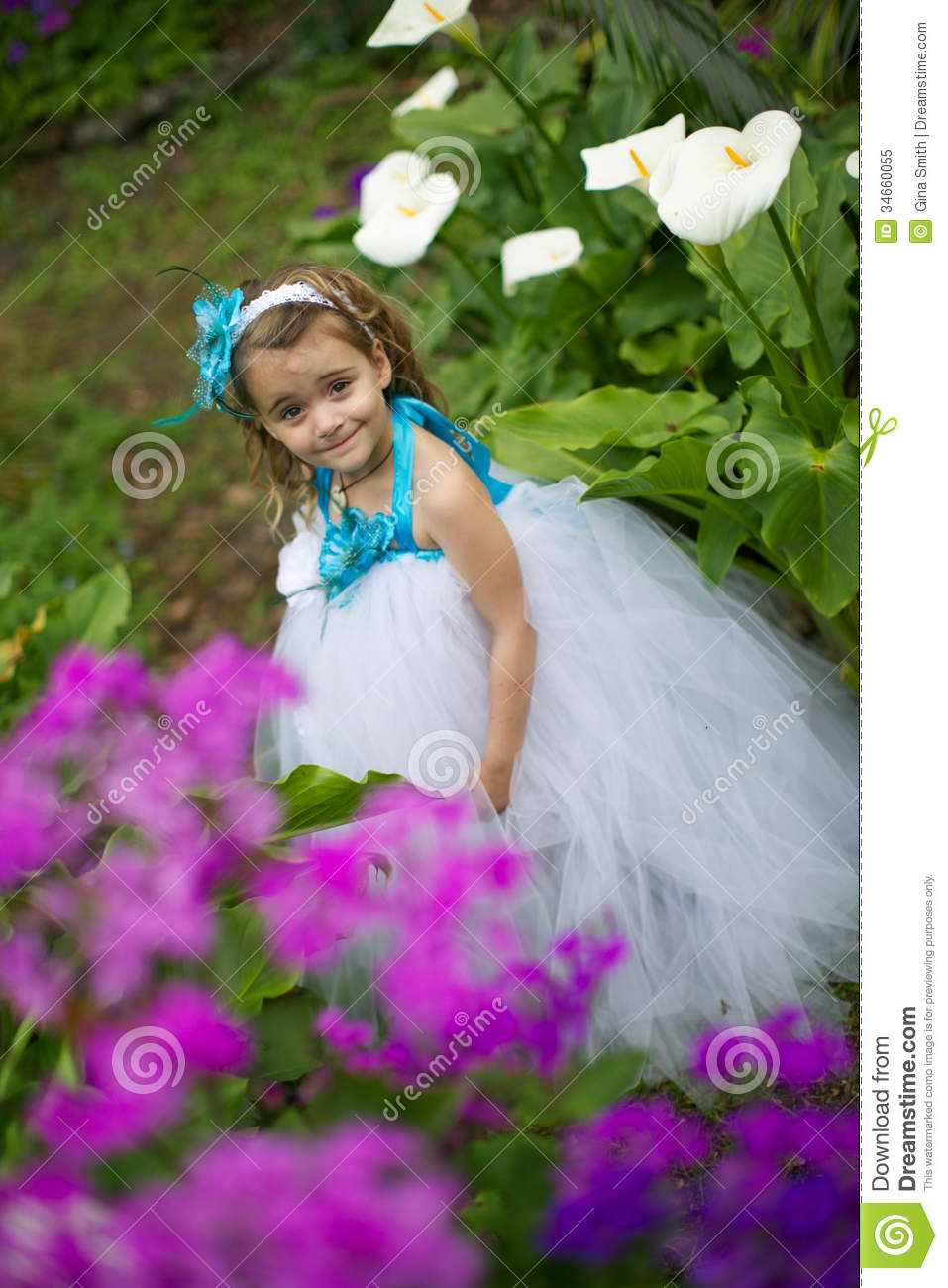 Pretty Flower Girl Stock Image Image Of Event Dress 34660055