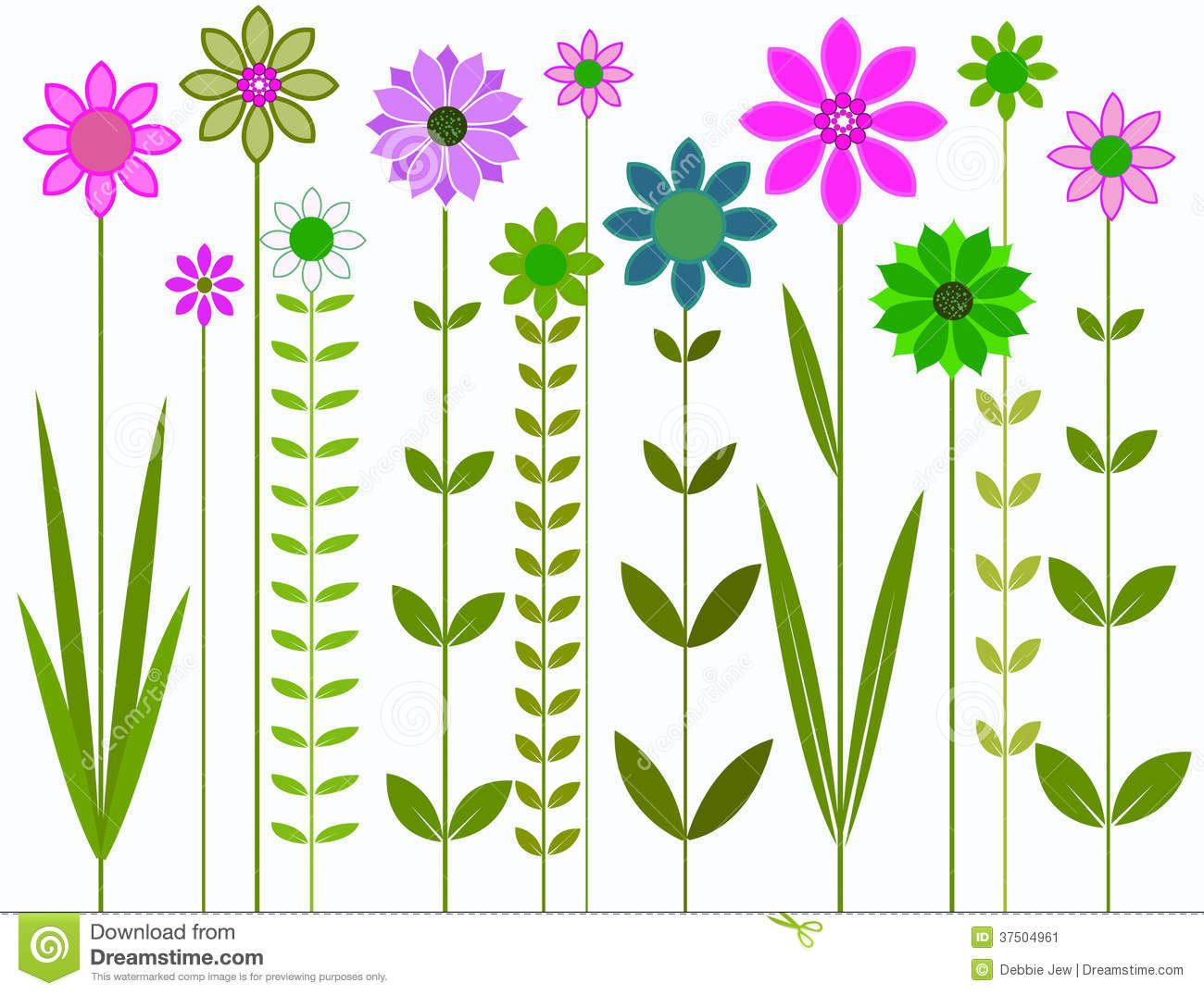 Pretty flowers illustration stock image image 37504961 flowers graphic pretty dhlflorist Image collections