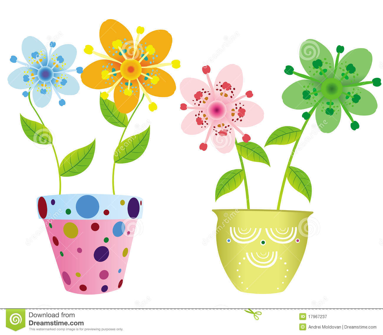 Pretty flower pots stock image image 15133961 pretty flowers in two pots royalty free stock photography dhlflorist Image collections