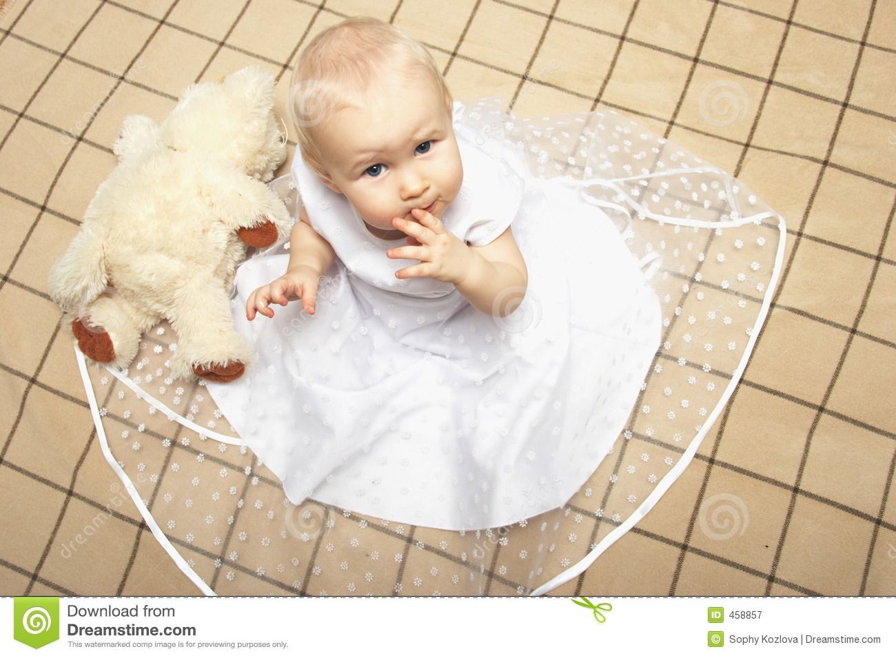 Download Pretty girl stock image. Image of princess, infancy, blonde - 458857
