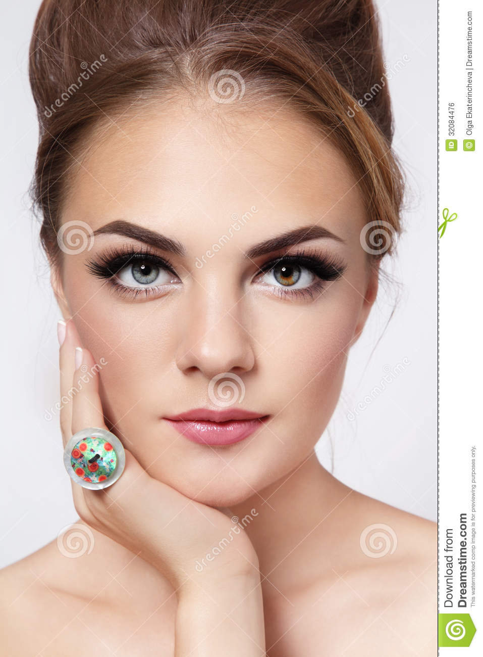 Pretty Girl With Cat Eyes Royalty Free Stock Image - Image ...