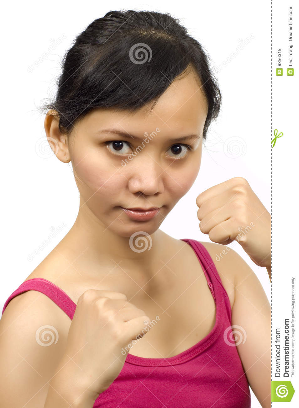 Pretty Girl Do Thai Boxing Stance Royalty Free Stock Photo - Image ...