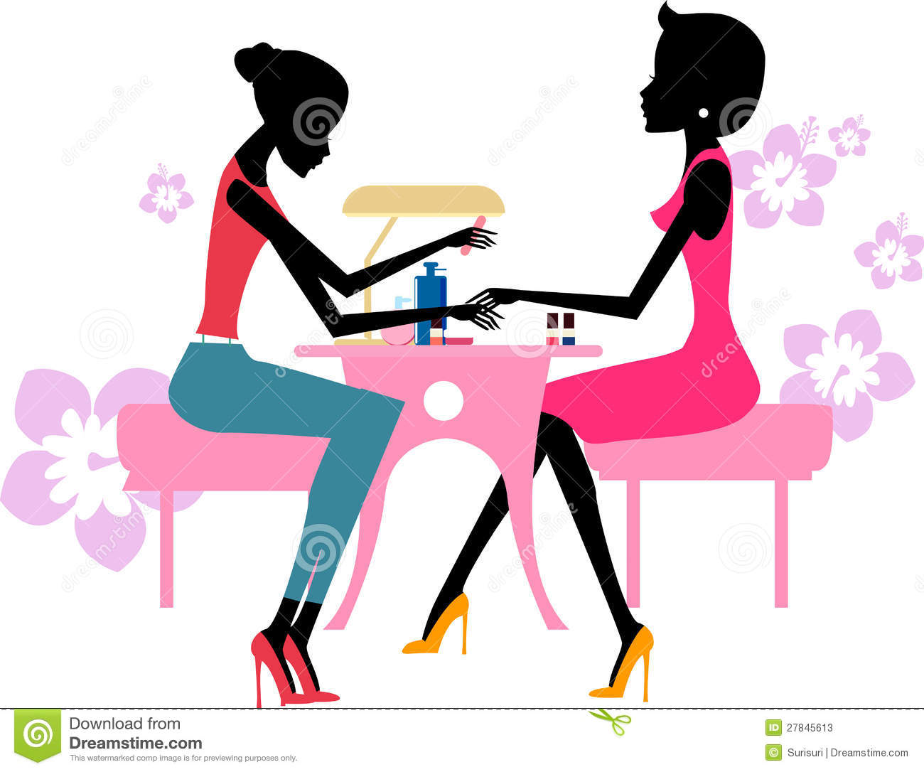 Pretty Girl Doing A Manicure At The Beauty Salon Stock Photos - Image ... Nail Polish Bottles Clipart