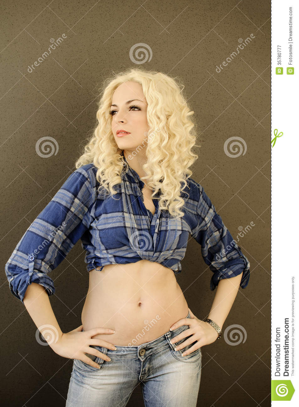 Pretty Girl With Flat Belly Royalty Free Stock Photography - Image ...