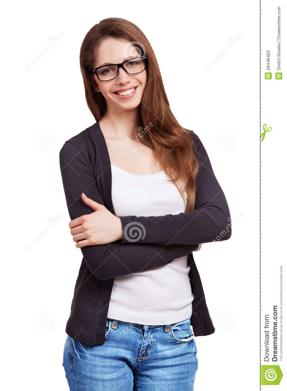 Pretty Girl In Glasses Stock Photography Image 29446402
