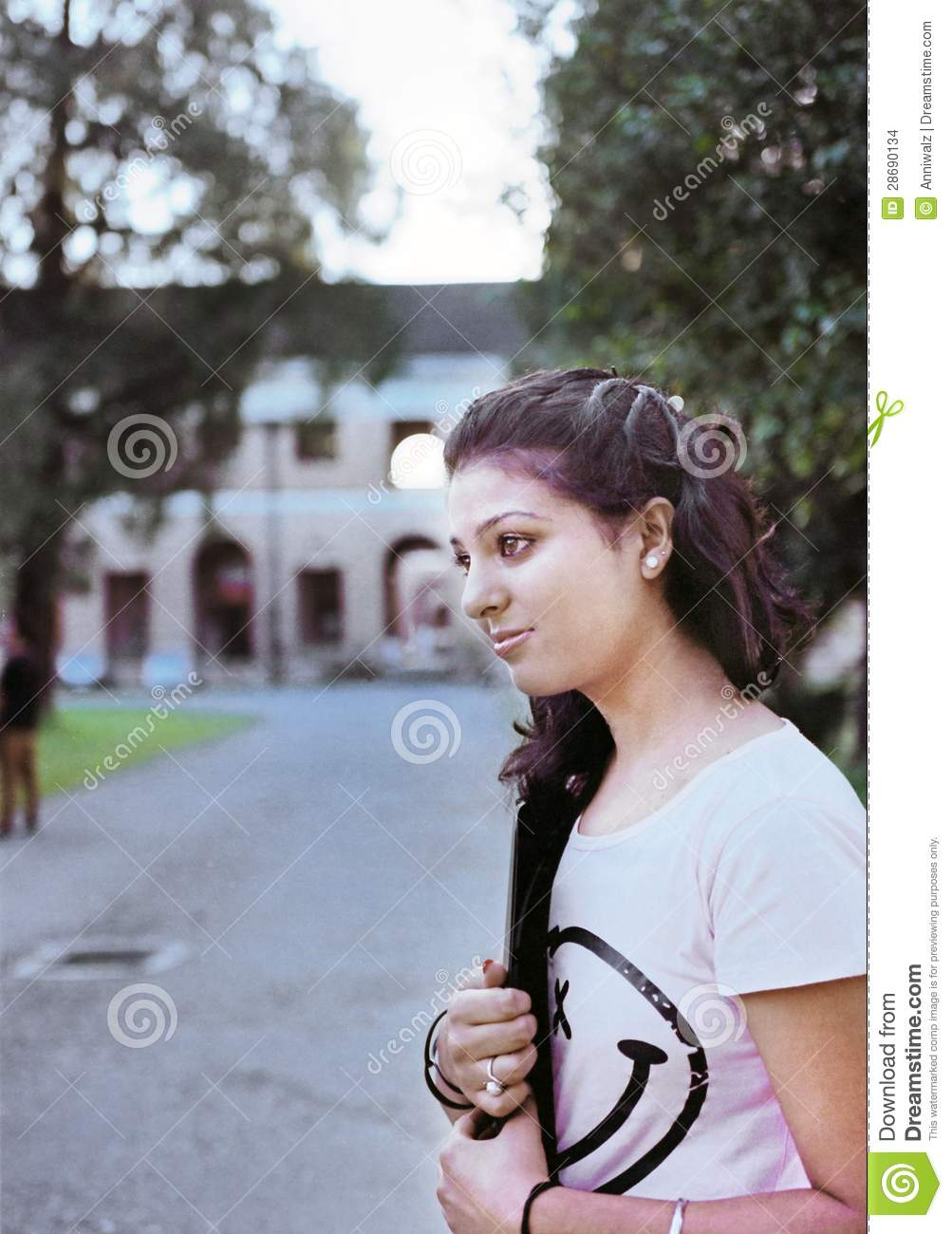 Indian College Student Going To Campus Stock Photography  Cartoondealercom 28076060-3396