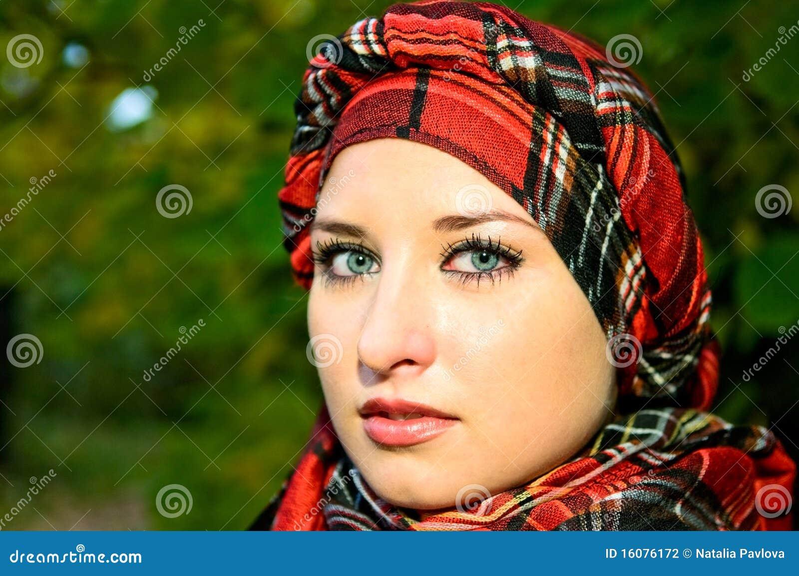 Pretty Girl In Headscarf Stock Photo. Image Of Model