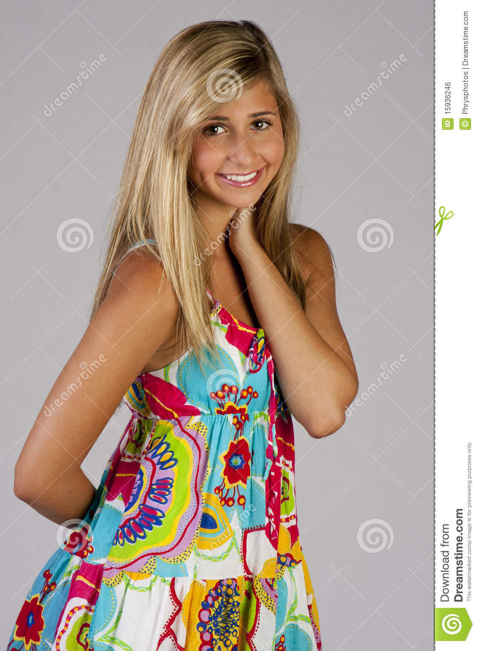 Pretty Girls That Make The World A Little More Beautiful: Pretty Girl In Party Dress Stock Photo. Image Of Youth