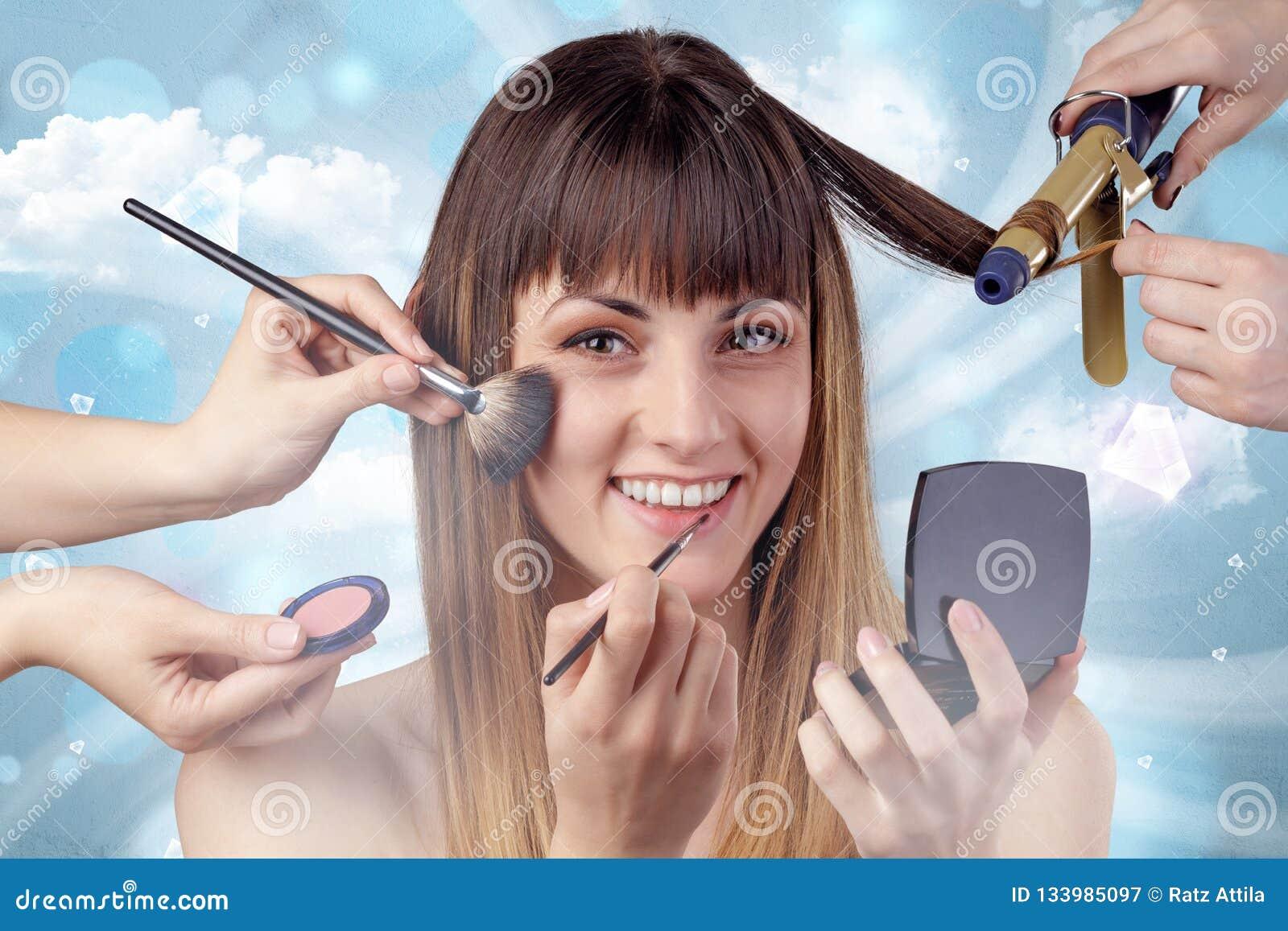 Pretty Girl Portrait In Beauty Salon Stock Image Image Of