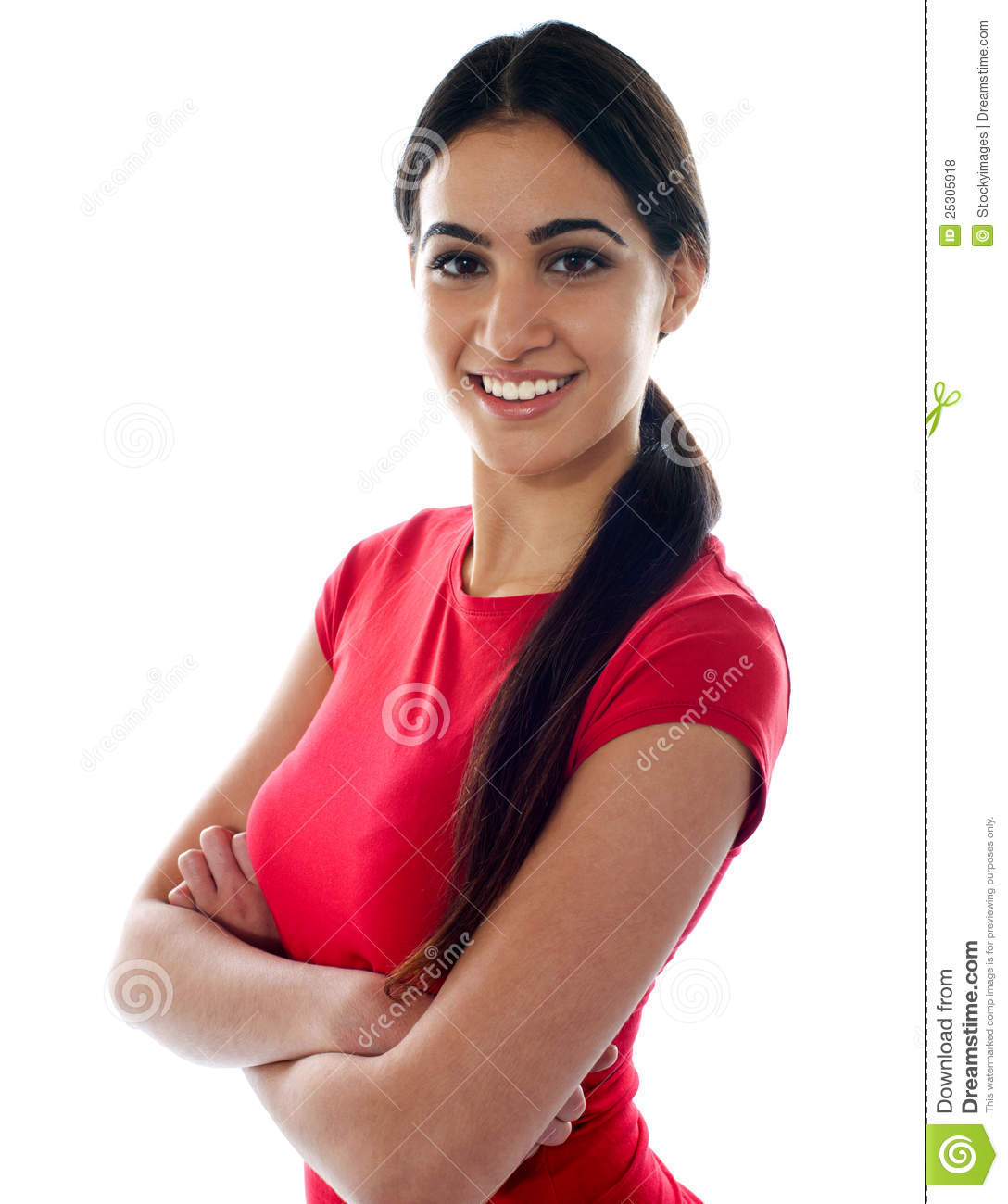 Pretty Girl Posing Arms Crossed Royalty Free Stock Photos ...