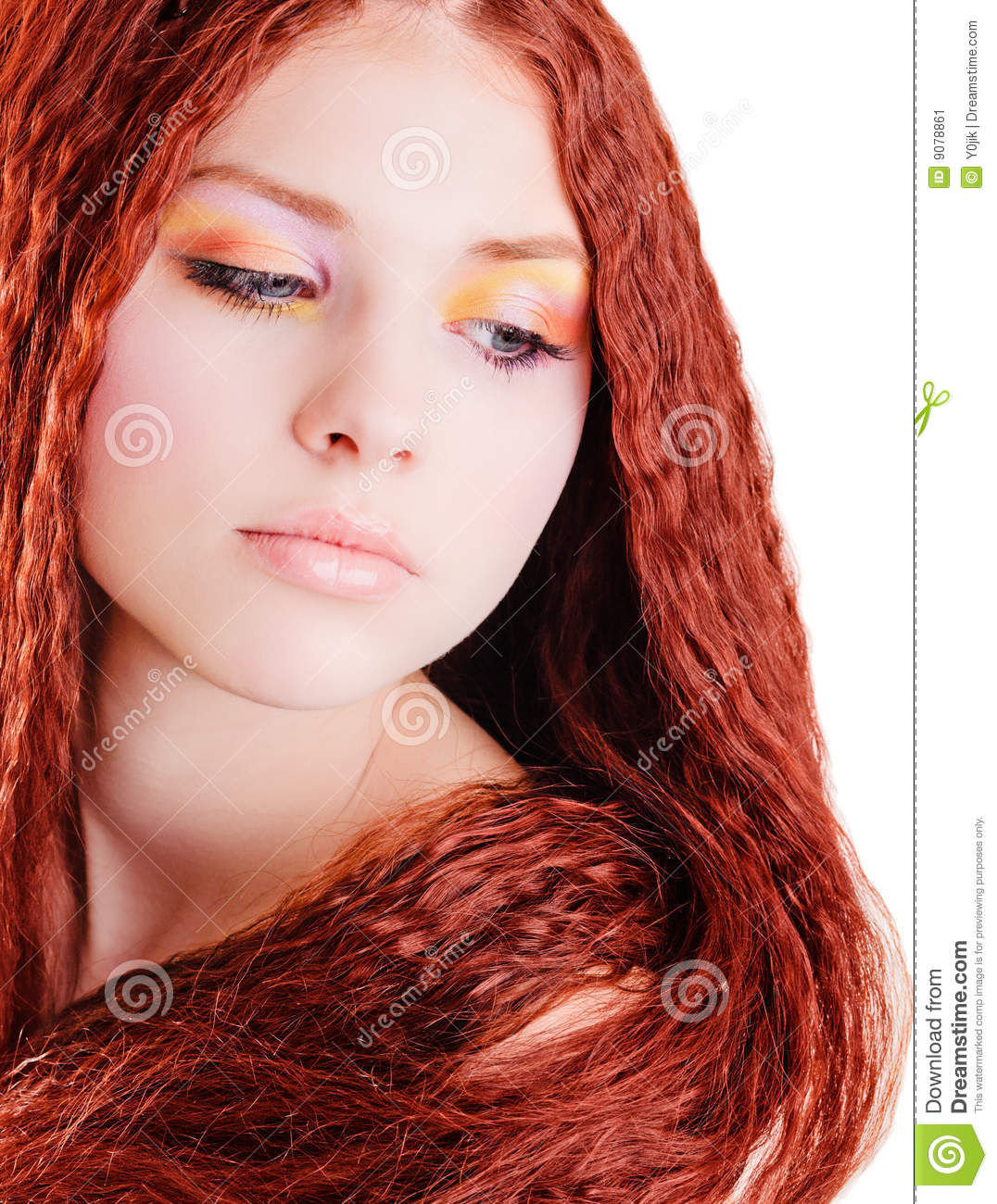 Pretty Girl With Red Hair Stock Image Image 9078861