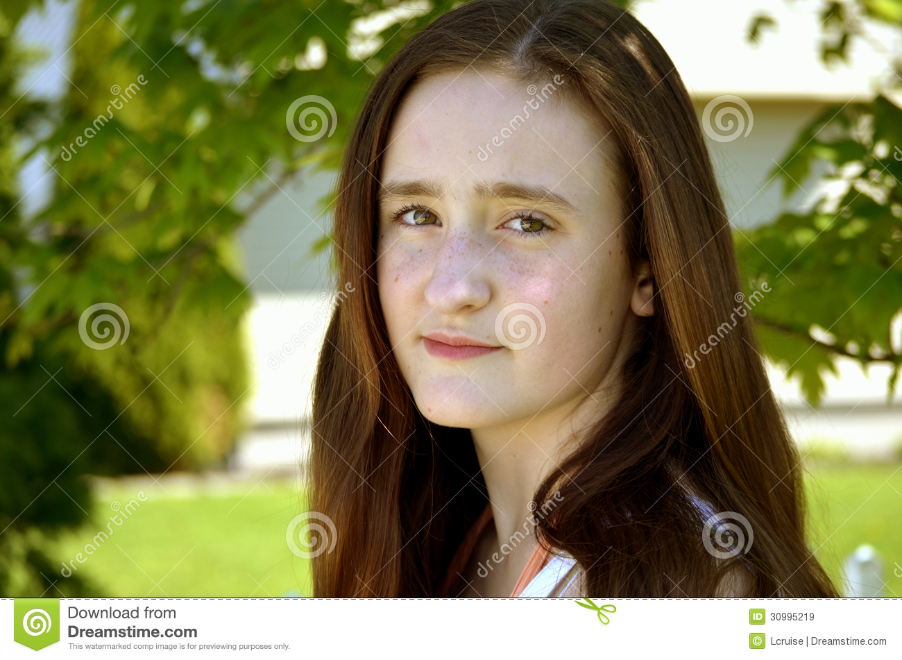 Pretty Girl With Serious Expression Royalty Free Stock