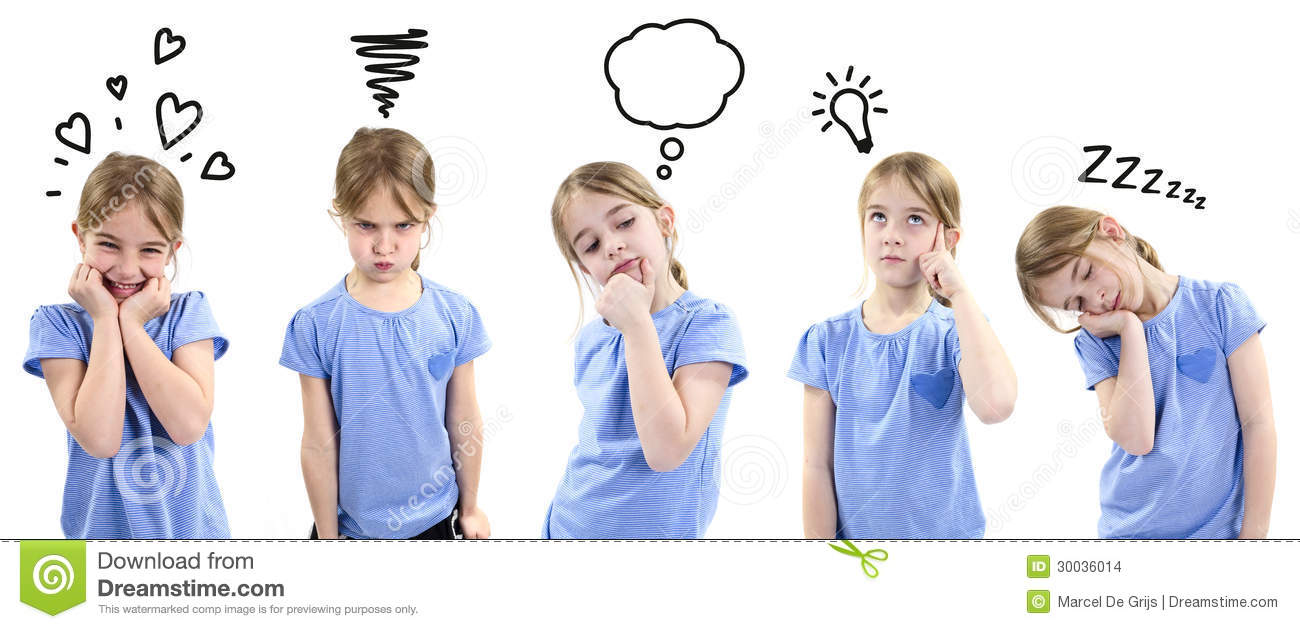 Girl Showing Different Emotions Stock Images Image 30036014