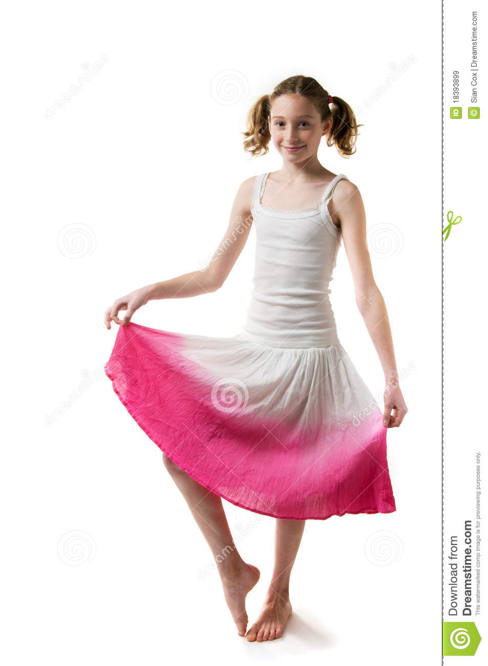 Pretty Girl In A Skirt Royalty Free Stock Images - Image: 18393899