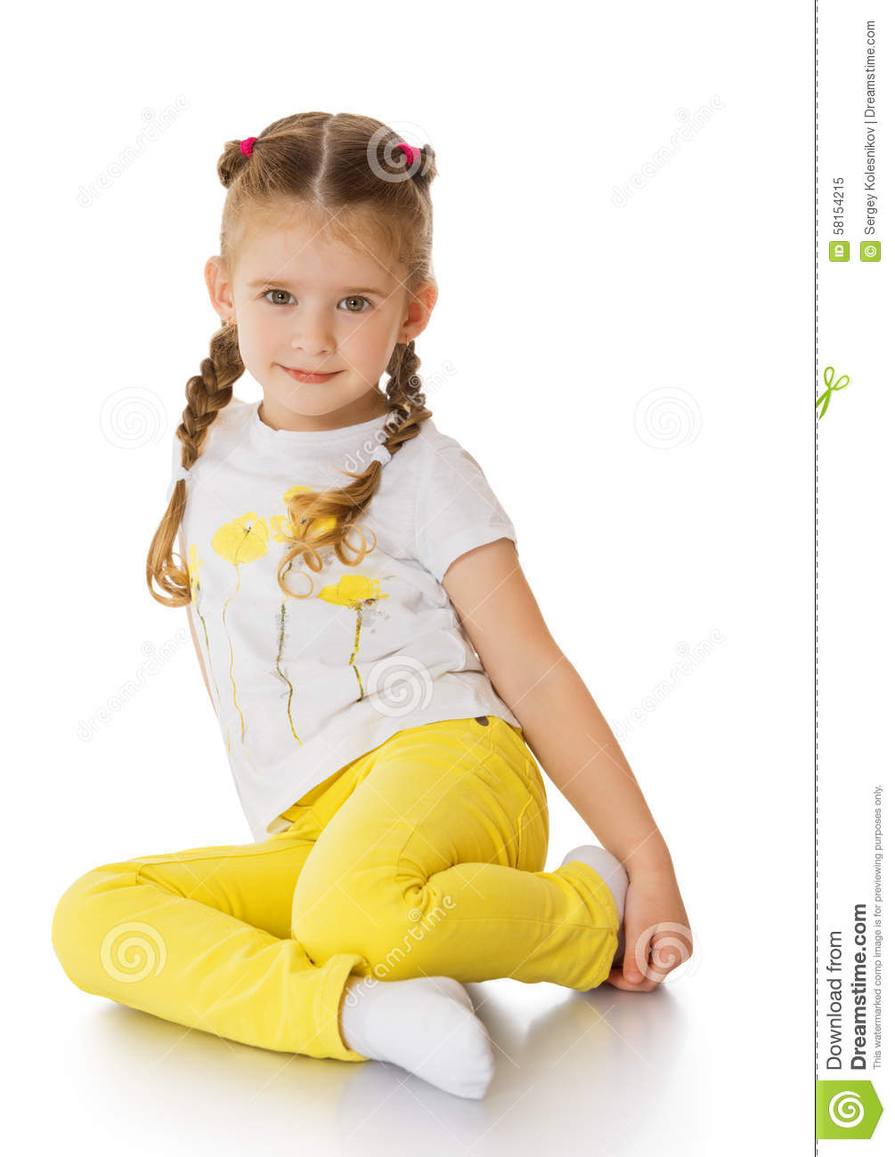 Pigtail Teen Yellow Shirt--9909