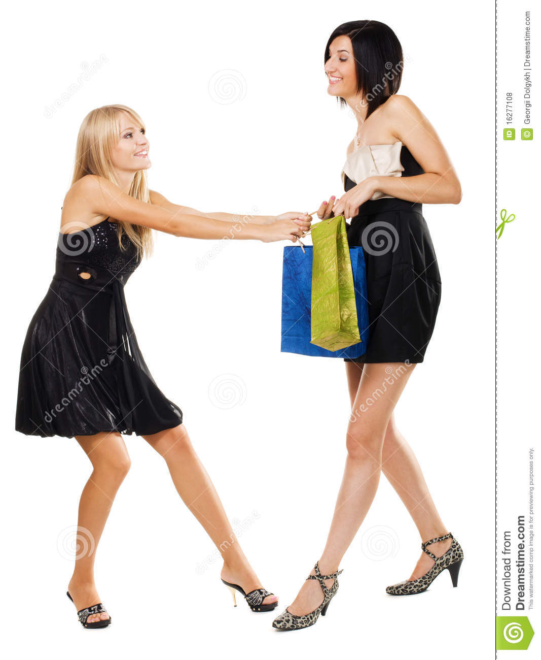 Ladies fighting without dress