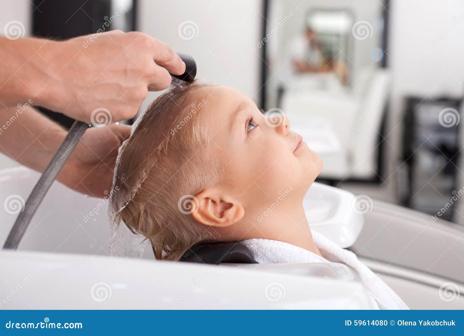 having hair