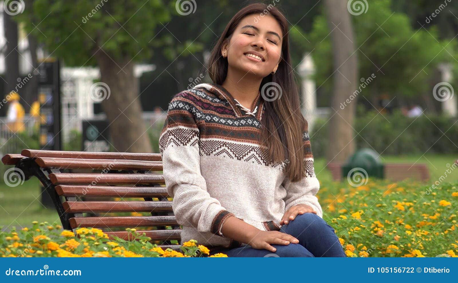 Teen in public park