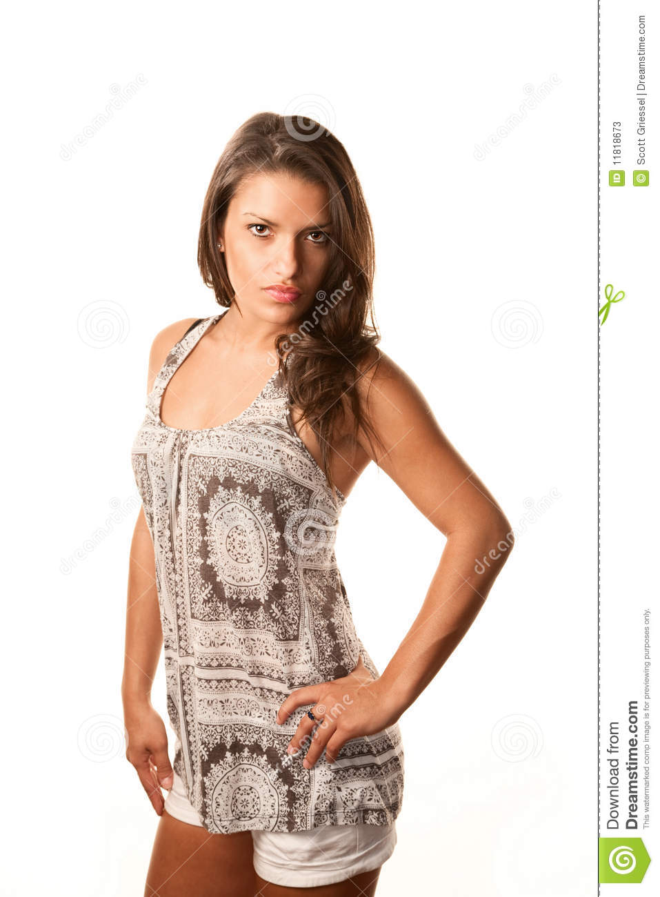 Pretty Hispanic Woman Stock Photos