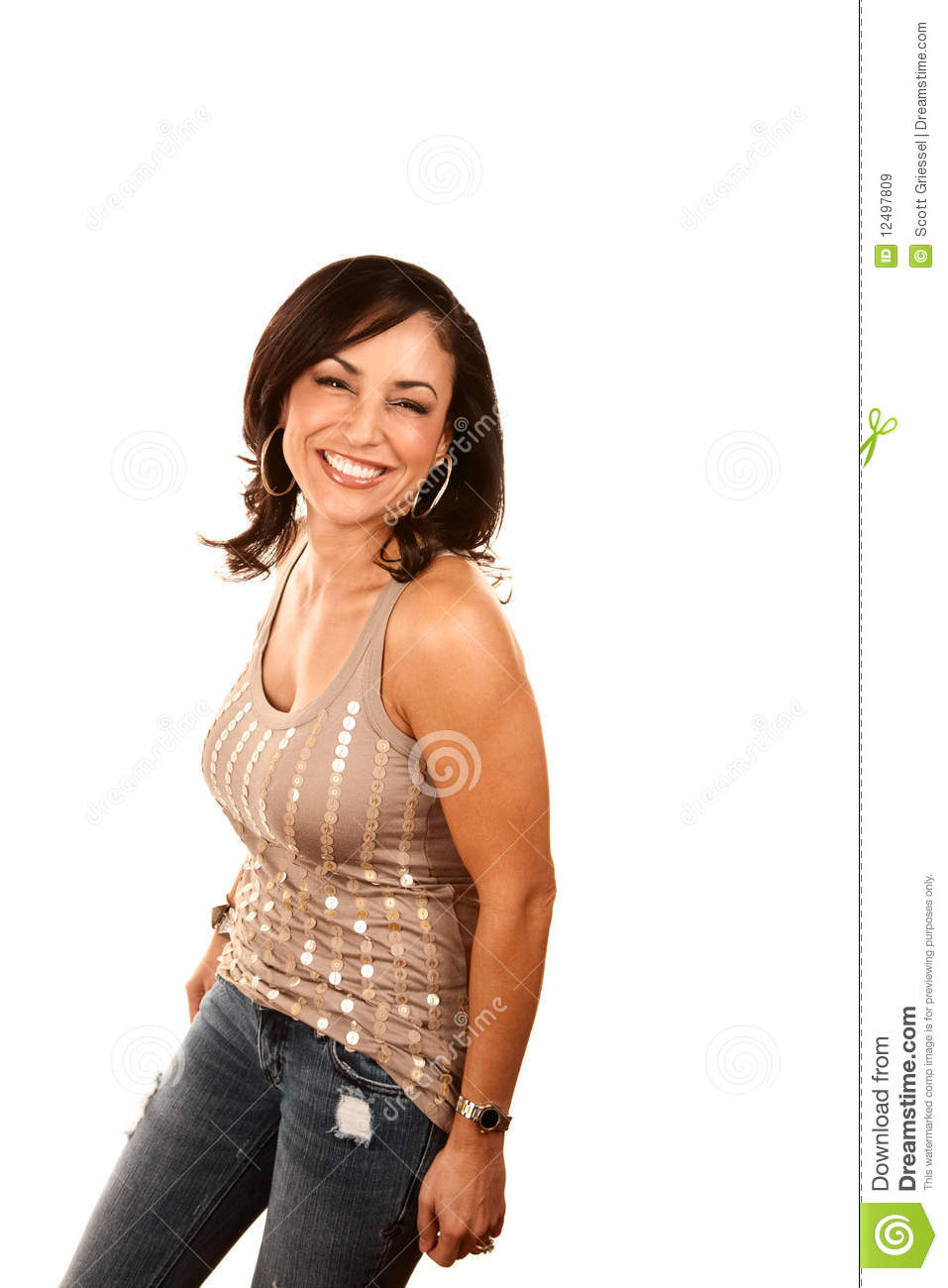 Pretty Hispanic Woman Royalty Free Stock Images