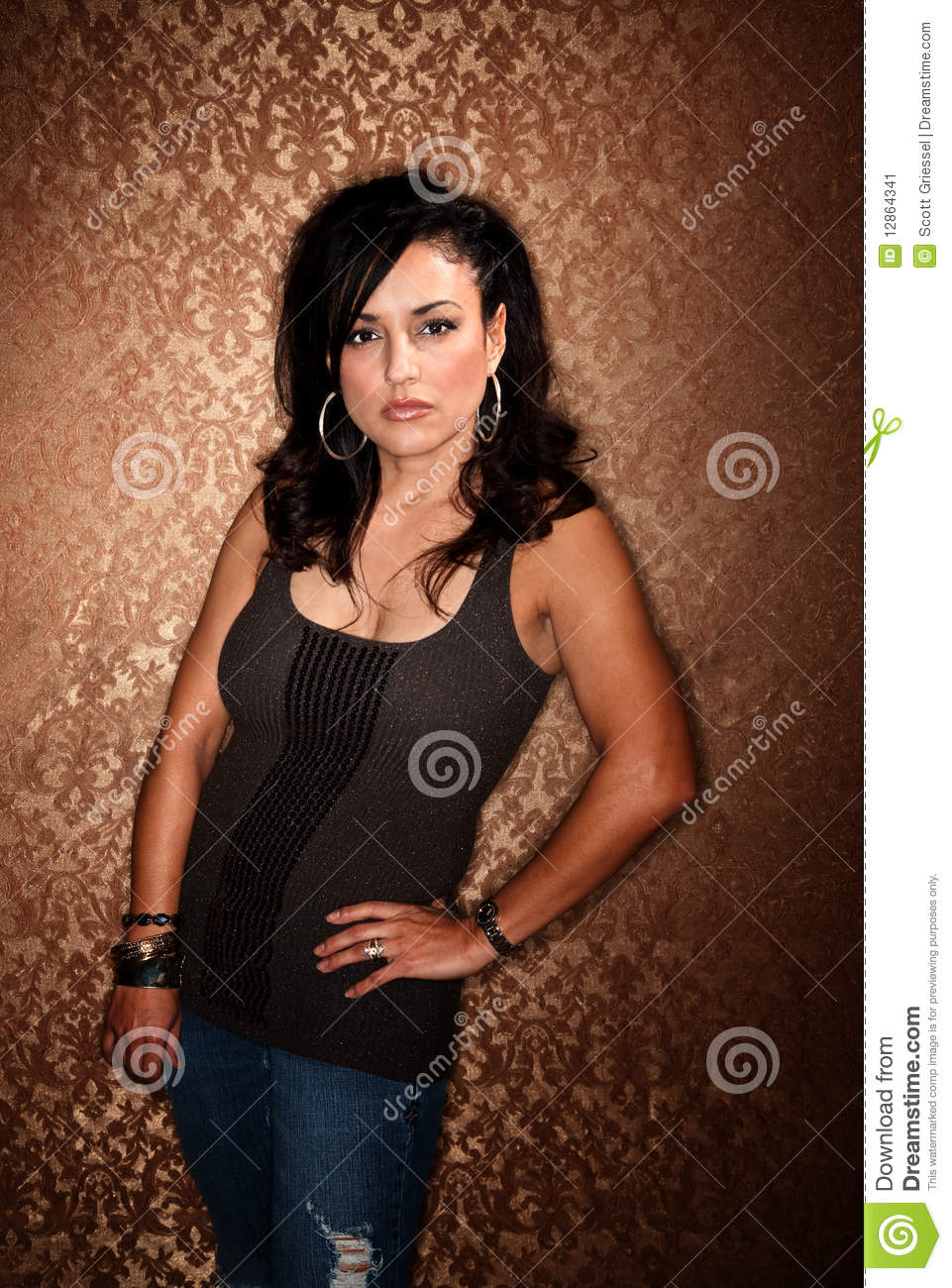 Pretty Hispanic Woman Stock Image