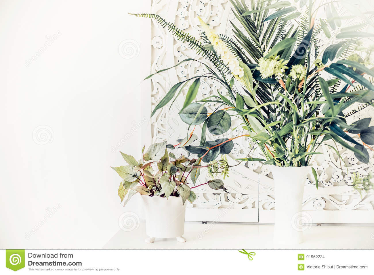Pretty indoor plants on white table home interior stock photo download pretty indoor plants on white table home interior stock photo image of indoor mightylinksfo