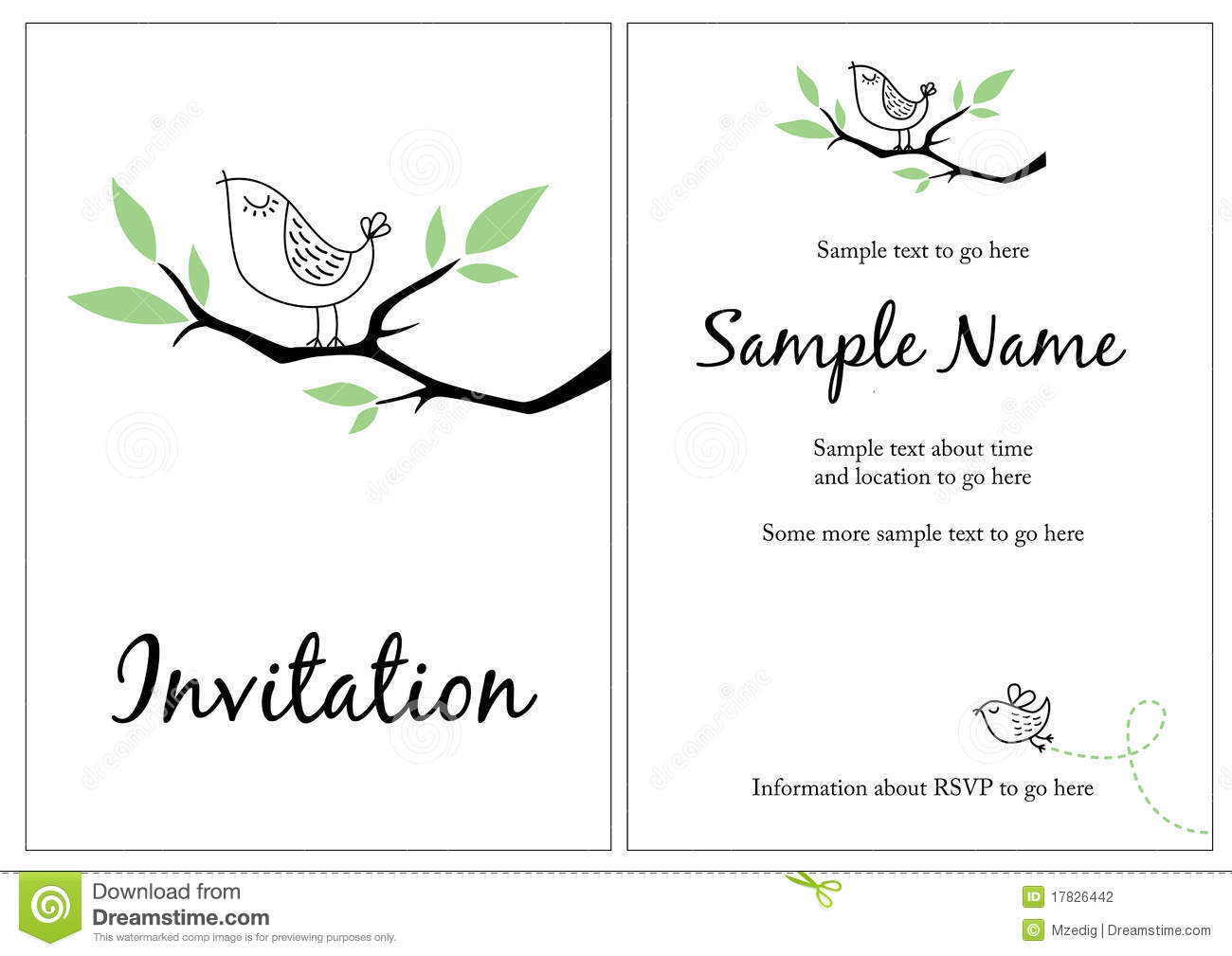 Pretty Invitation Photography Image 17826442 – Naming Ceremony Invitation Template