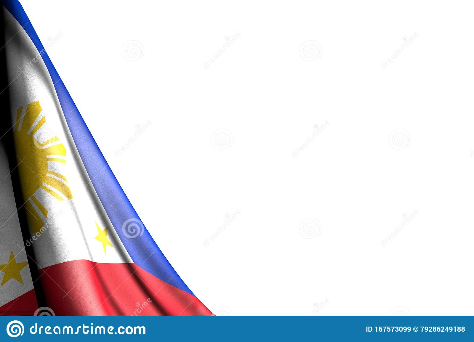Pretty Isolated Image Of Philippines Flag Hanging In ...
