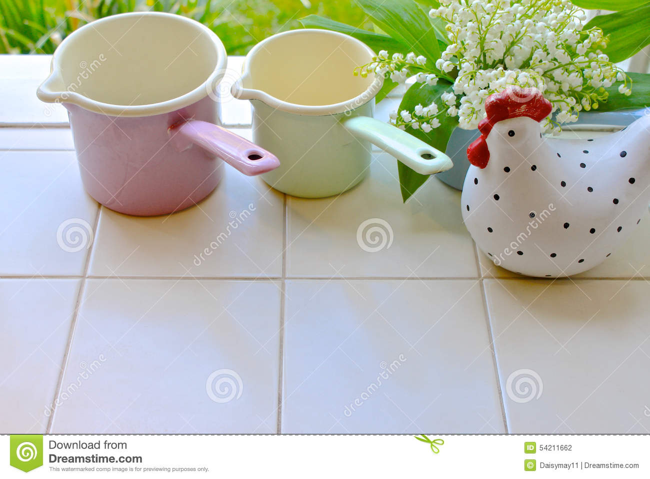 Pretty kitchen window sill stock photo image 54211662 for Lilly s craft kitchen