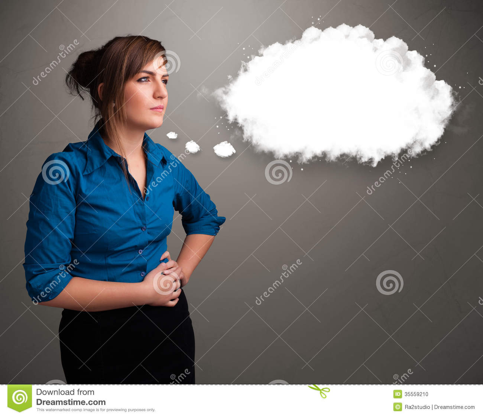Pretty doodle speech bubbles set — Stock Vector ... |Pretty Thought Bubbles