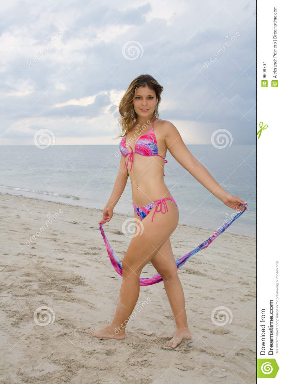 Pretty Lady Wearing A Pink And Blue Bikini (II) Royalty Free Stock Photography  Image: 9608707 - House Plans For Florida