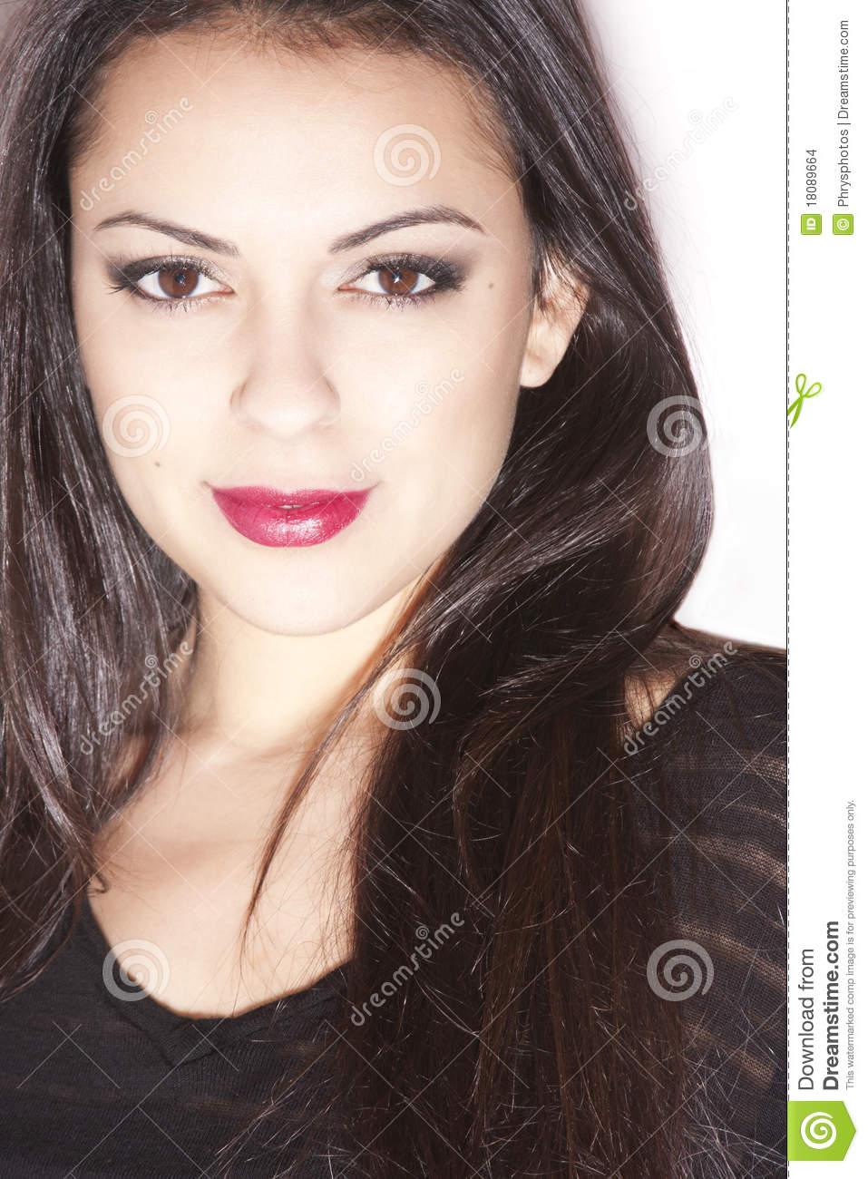 Pretty Latina Stock Photo. Image Of Latino, Green, Fashion