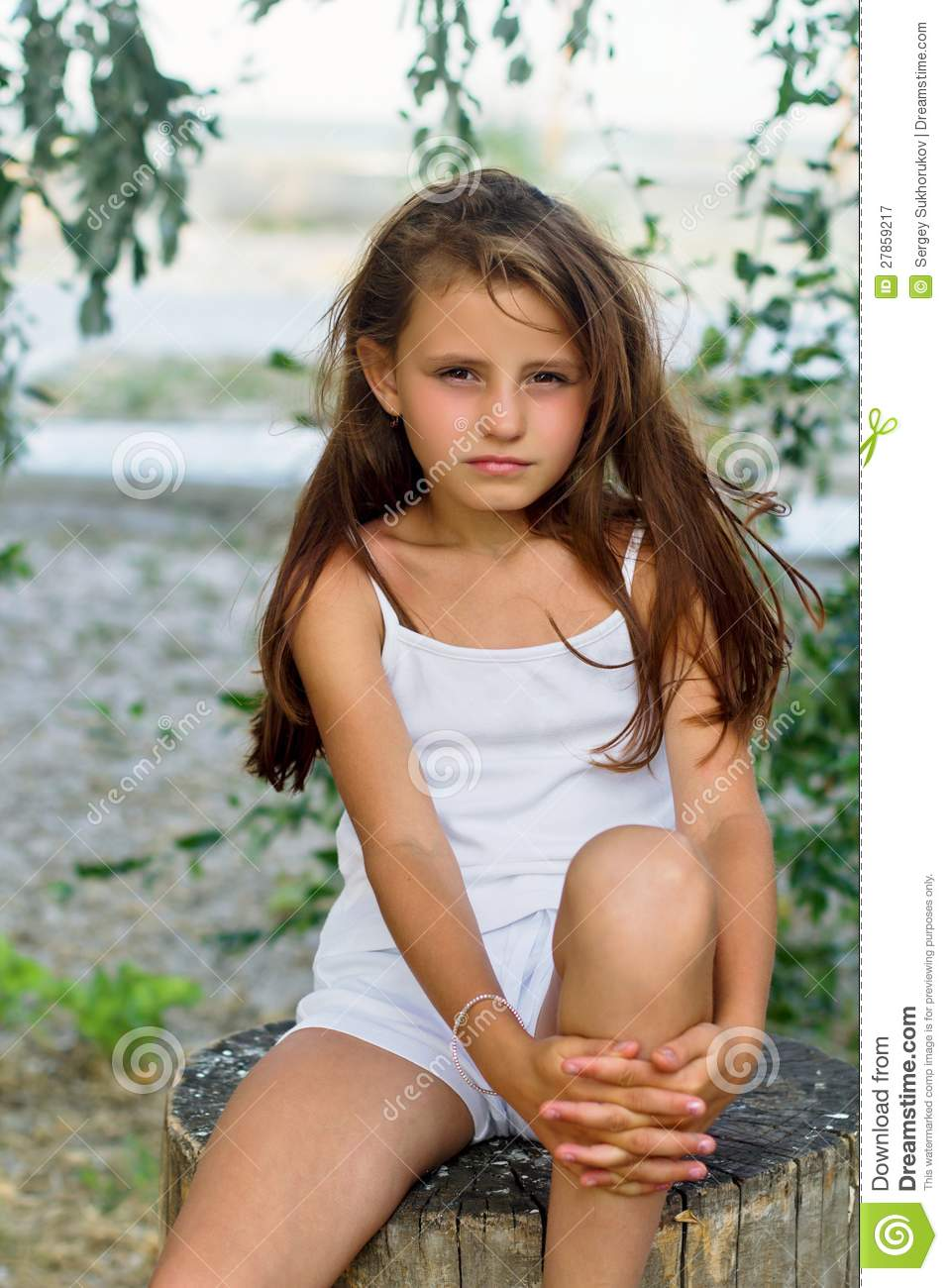 Pretty Little Girl Stock Image Image Of Childhood