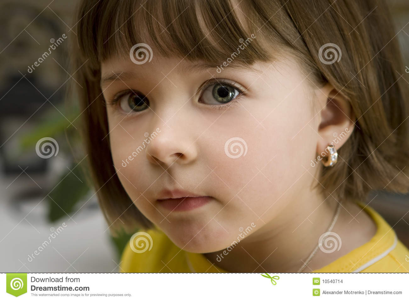 Pretty little girl with an earing stock images image 10540714 - Pics of small little girls ...