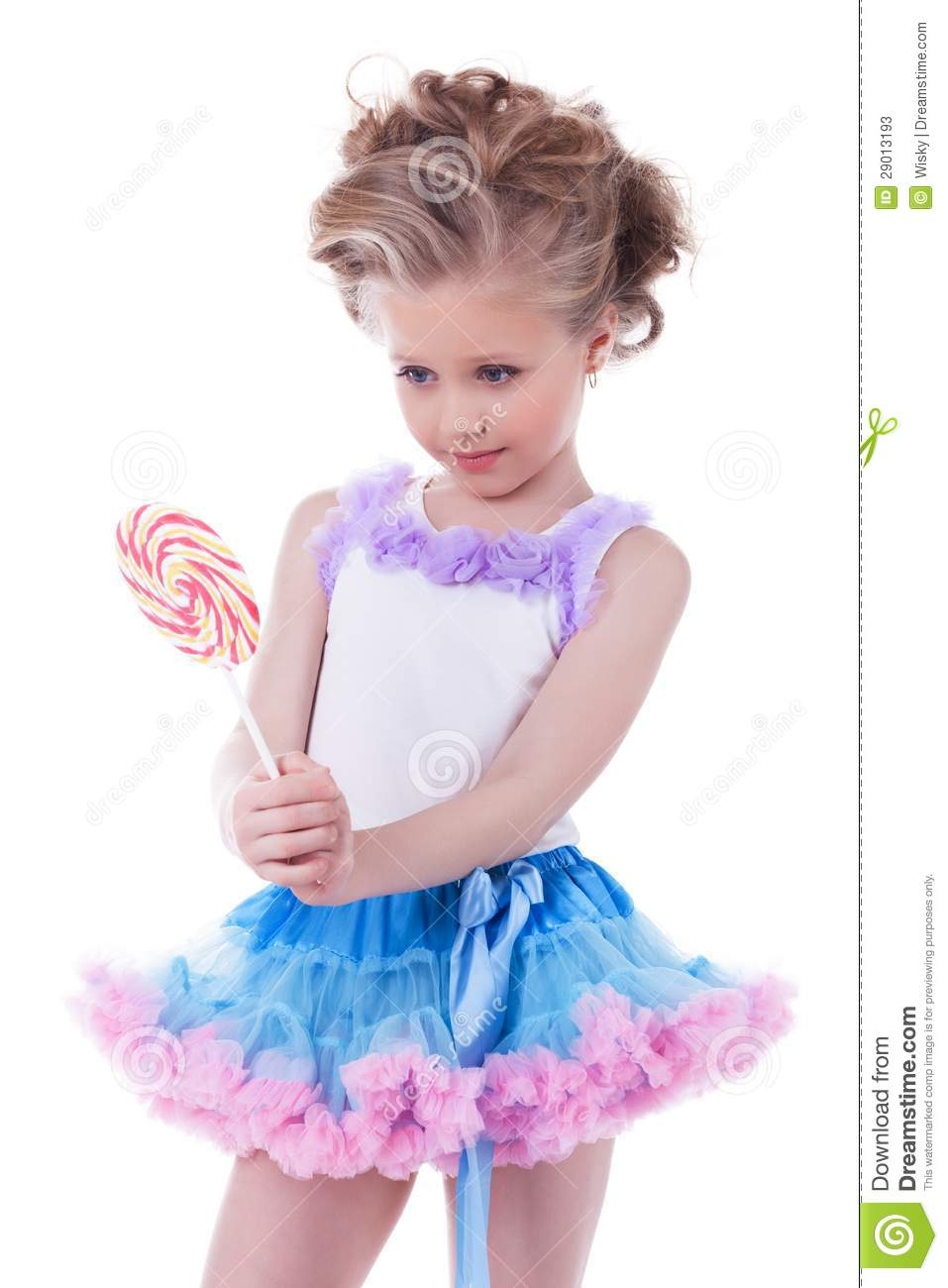 pretty little girl with lollipop stock photos image. Black Bedroom Furniture Sets. Home Design Ideas