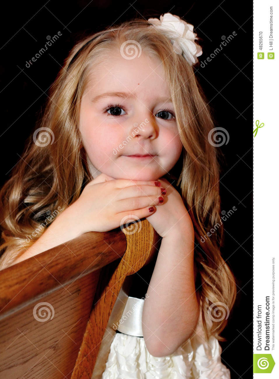 Pretty Little Girl With Long Hair Stock Photo Image Of Adorable