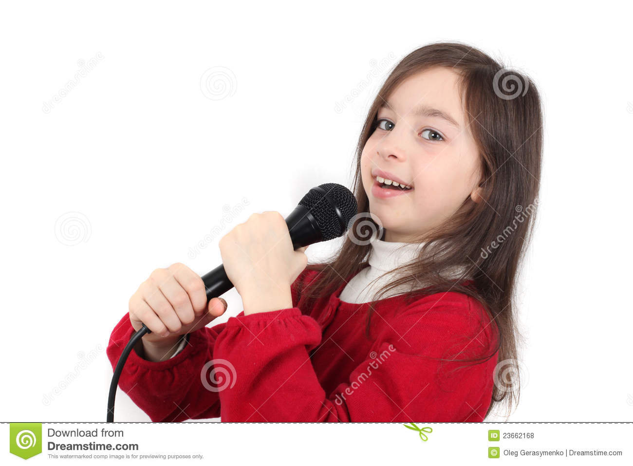 Pretty Little Girl Singing Royalty Free Stock Photos ...