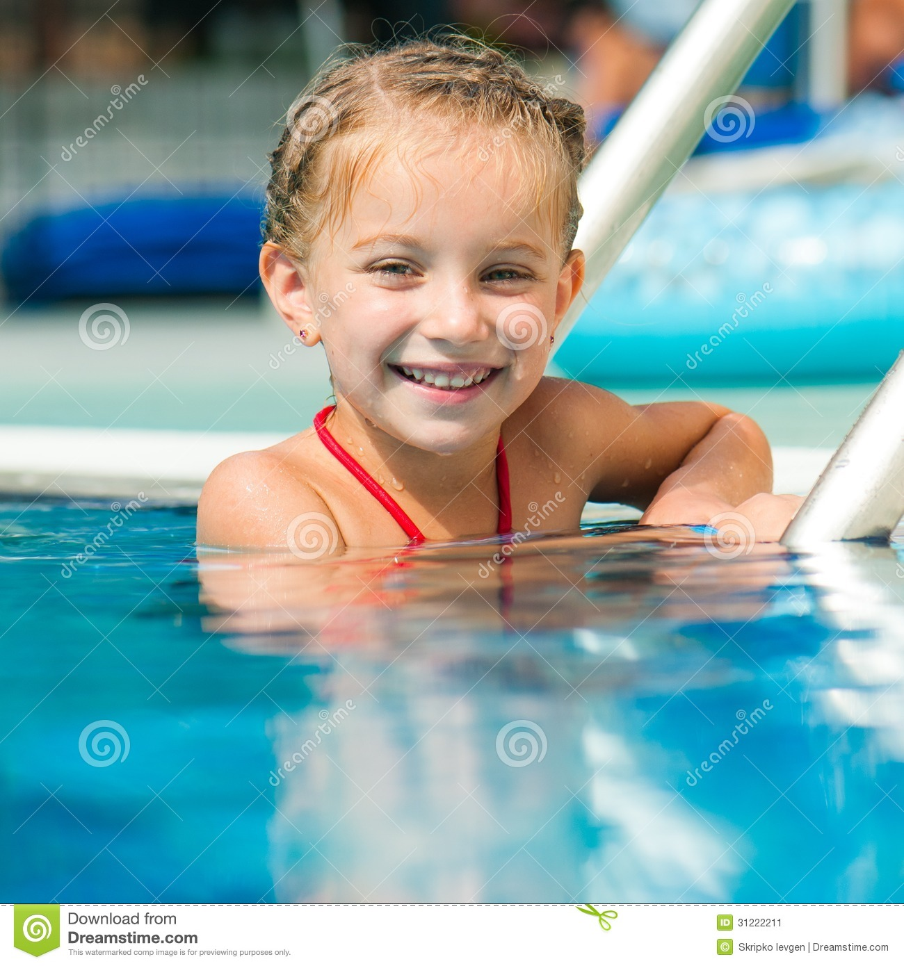 For Sweet girls swim pool are